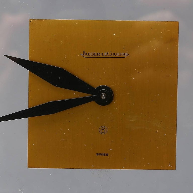 Swiss Midcentury Table Clock by Jaeger-LeCoultre, Switzerland For Sale