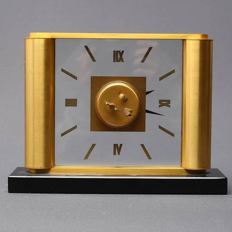Mid-20th Century Midcentury Table Clock by Jaeger-LeCoultre, Switzerland For Sale