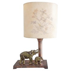 Midcentury Table Desk Lamp Elephants, France, 1949