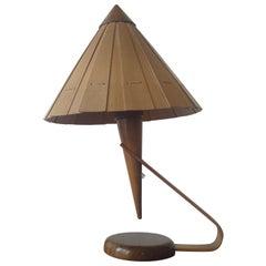 Midcentury Table Lamp from Veneer, 1950s