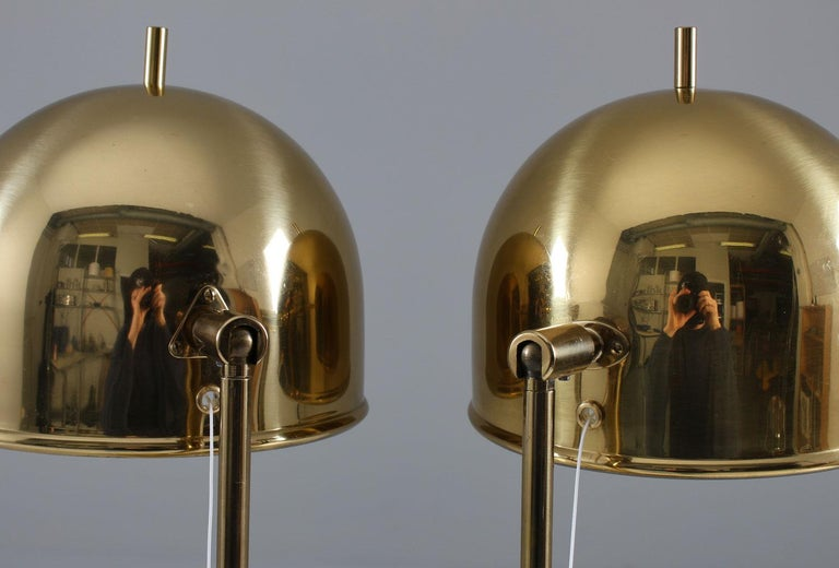 Mid-Century Modern Midcentury Table Lamps in Brass by Eje Ahlgren for Bergboms, Sweden For Sale