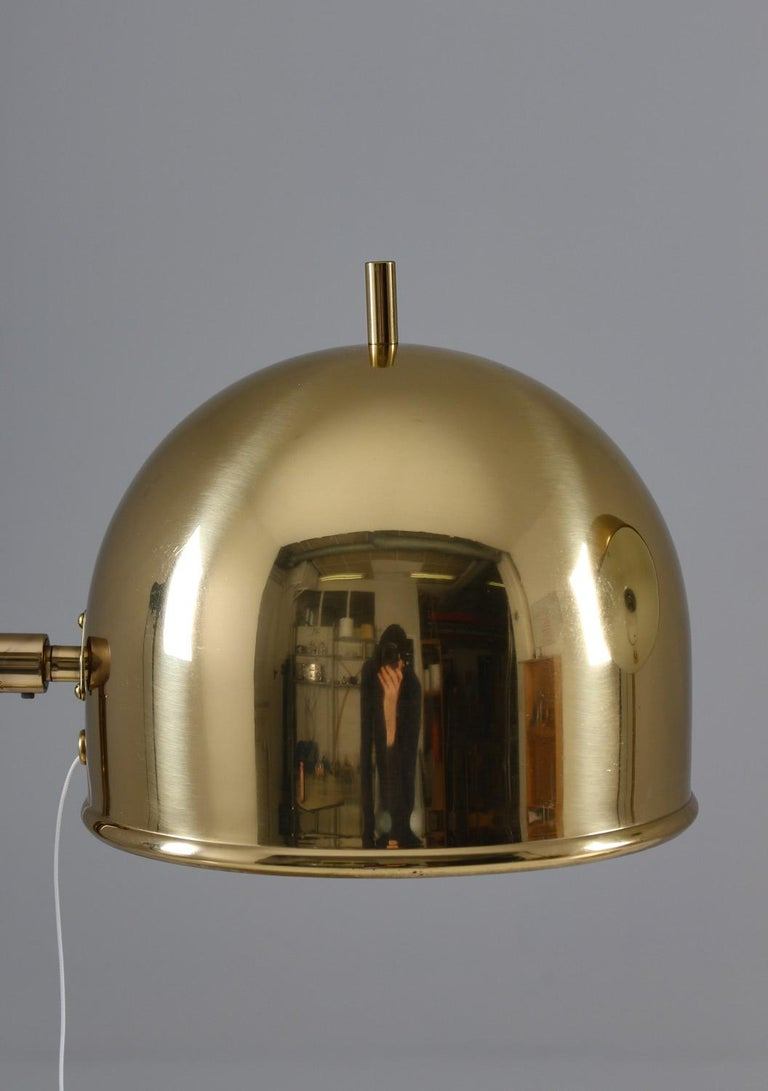 Midcentury Table Lamps in Brass by Eje Ahlgren for Bergboms, Sweden For Sale 1