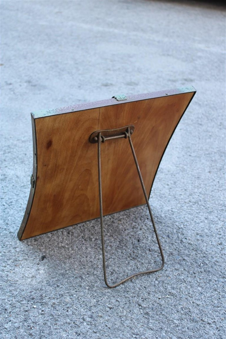 Mid-20th Century Midcentury Table Mirror Brass Gold Italian Design 1950s Leaves For Sale