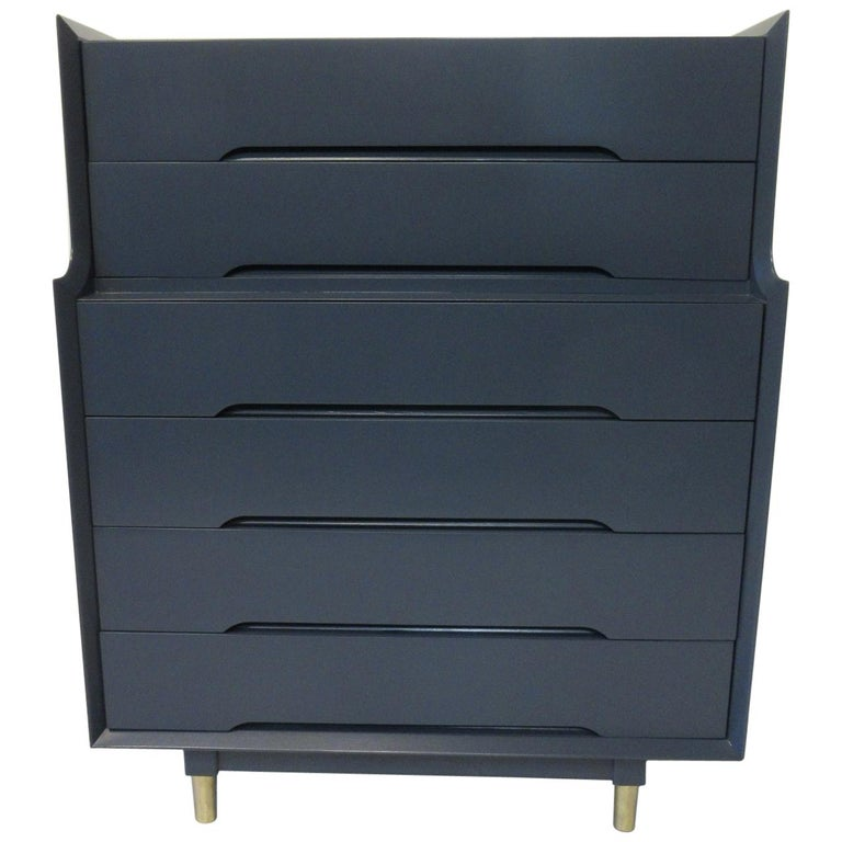 Midcentury Tall Dresser / Chest from the Beverly Hills Ensemble by T. Walczer For Sale
