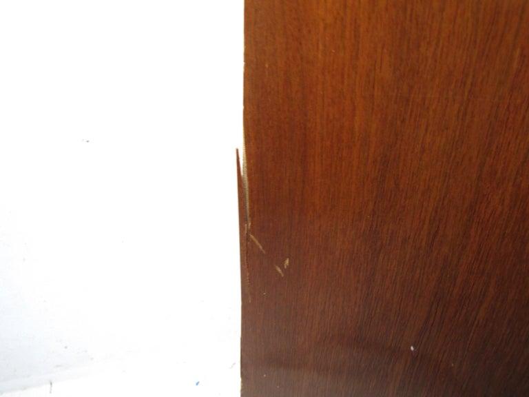 Midcentury Tall Dresser in Walnut For Sale 4