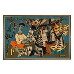 Midcentury Tapestry by Robert Debieve