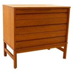 Midcentury Teak 3-Drawer Nightstand Dresser Chest