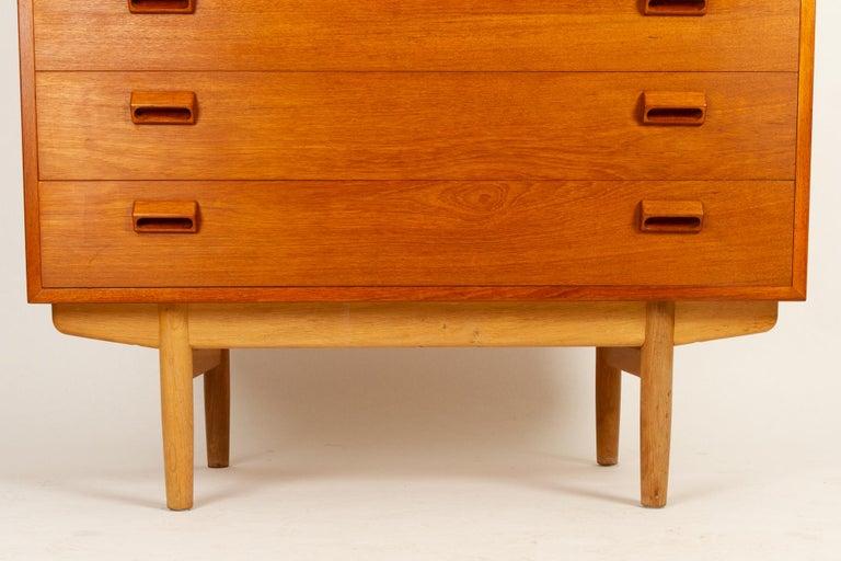 Midcentury Teak and Oak Secretaire by Børge Mogensen 1960s For Sale 5