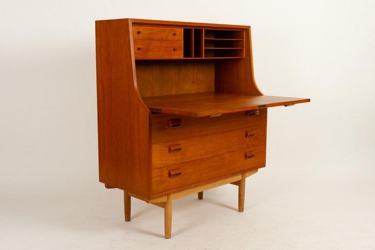 Midcentury Teak and Oak Secretaire by Børge Mogensen 1960s For Sale 8
