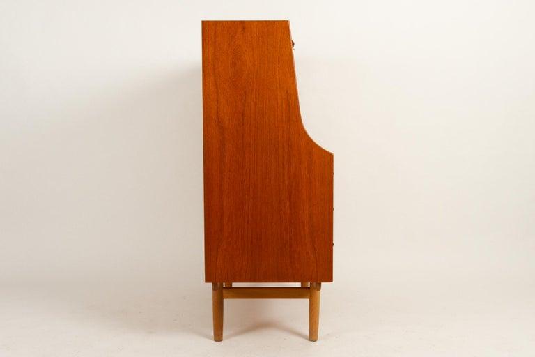 Midcentury Teak and Oak Secretaire by Børge Mogensen 1960s For Sale 10