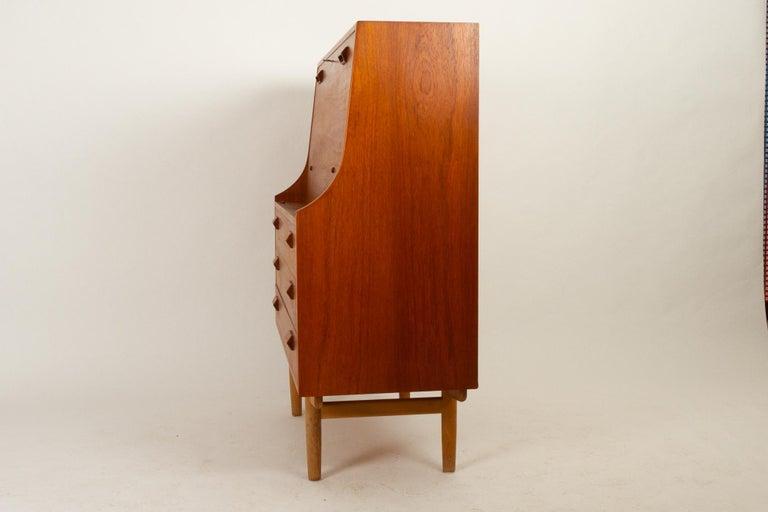 Midcentury Teak and Oak Secretaire by Børge Mogensen 1960s For Sale 11