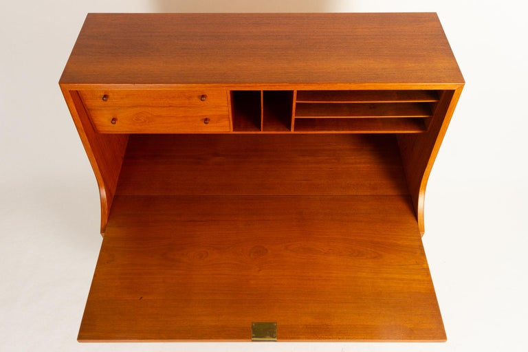 Midcentury Teak and Oak Secretaire by Børge Mogensen 1960s In Good Condition For Sale In Nibe, Nordjylland