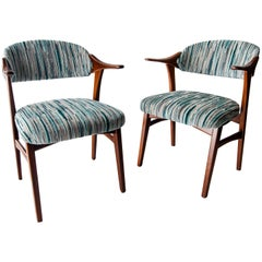 Set of 2 Midcentury Teak Arne Vodder for France&Daverkosen Denmark Dining Chairs