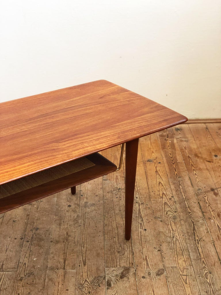 Mid-20th Century Midcentury Teak Coffee Table by Peter Hvidt & Orla Mølgaard Nielsen For Sale
