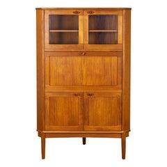Midcentury Teak Corner Cabinet by H. W. Klein for Bramin, 1960s