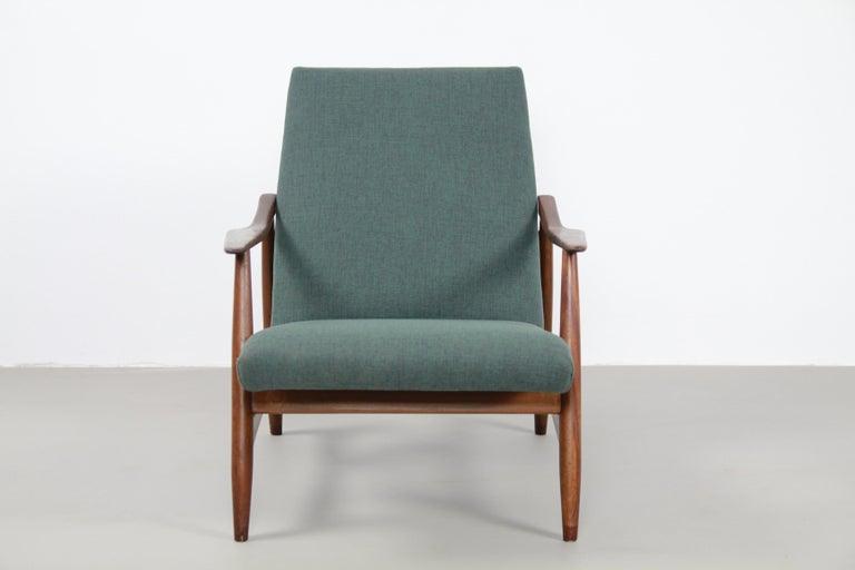 Midcentury Teak Danish Armchair with Organic Design ...
