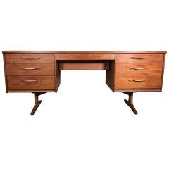 Midcentury Teak Desk or Dressing Table by Austinsuite