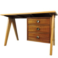Midcentury Teak Desk with Formica Top
