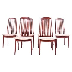 Mid Century Teak Dining Chairs by Preben Schou