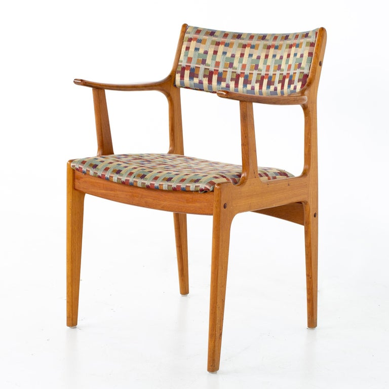 Mid Century Teak Dining Chairs, Set of 6 For Sale 5