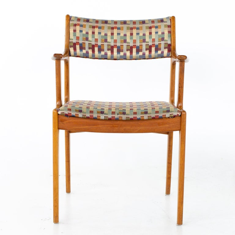 Mid Century Teak Dining Chairs, Set of 6 For Sale 6