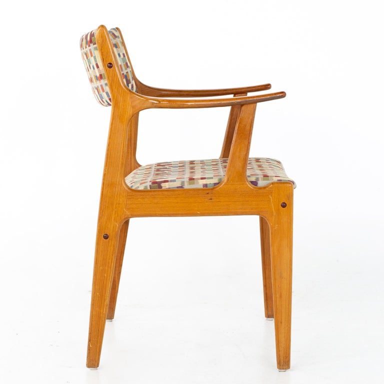 Mid Century Teak Dining Chairs, Set of 6 For Sale 7