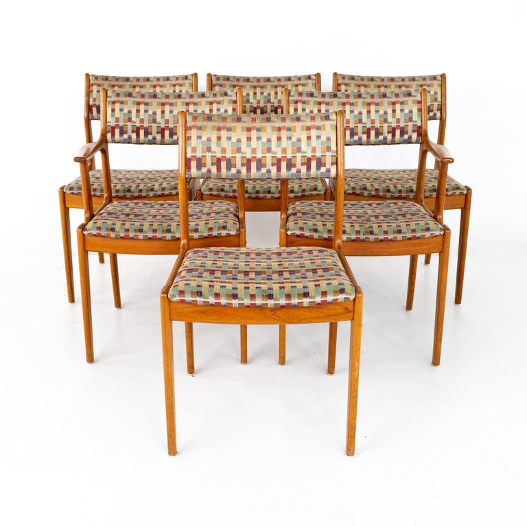 Mid-Century Modern Mid Century Teak Dining Chairs, Set of 6 For Sale
