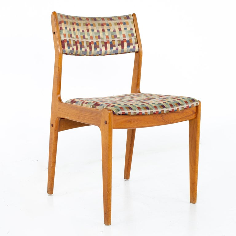 Danish Mid Century Teak Dining Chairs, Set of 6 For Sale