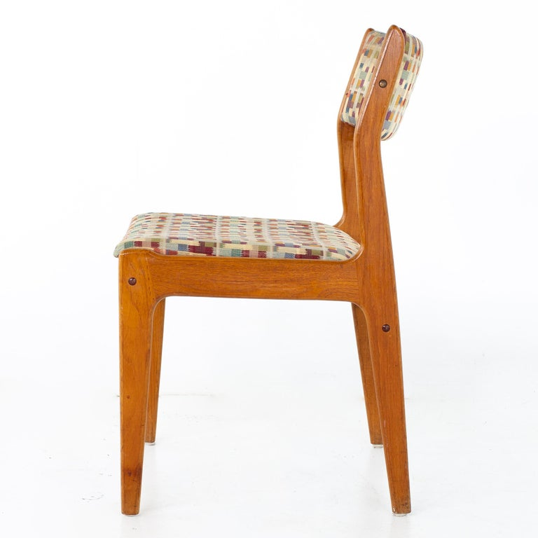 Mid Century Teak Dining Chairs, Set of 6 For Sale 1
