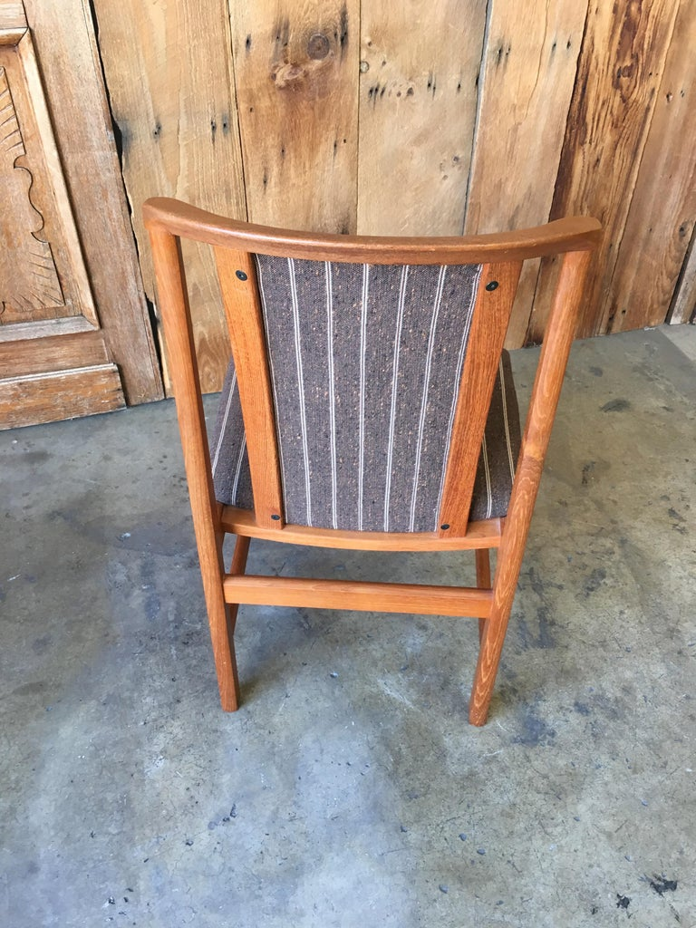 Mid Century Teak Dining Chairs Set of Eight For Sale 6