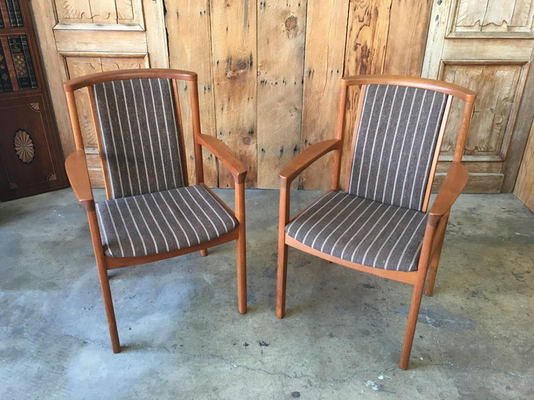 Mid Century Teak Dining Chairs Set of Eight For Sale 9