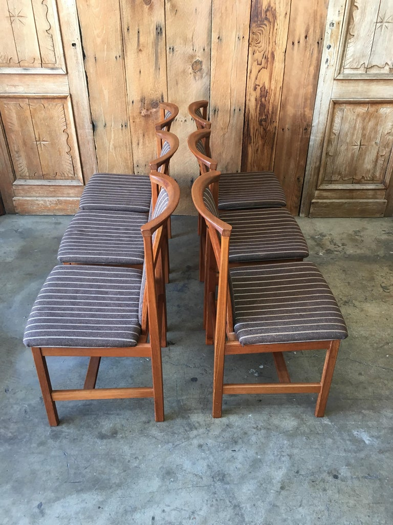 Mid Century Teak Dining Chairs Set of Eight For Sale 10