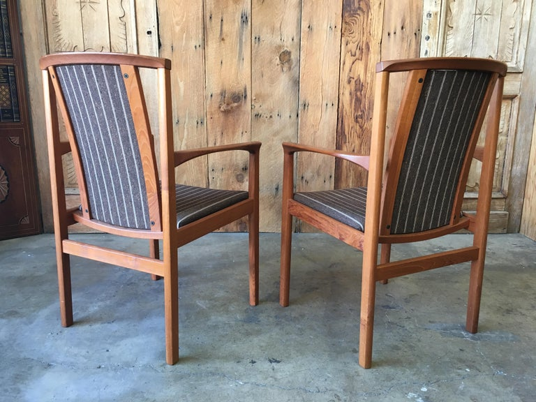 Mid Century Teak Dining Chairs Set of Eight For Sale 11
