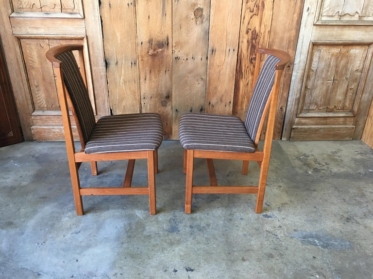 Mid Century Teak Dining Chairs Set of Eight For Sale 1