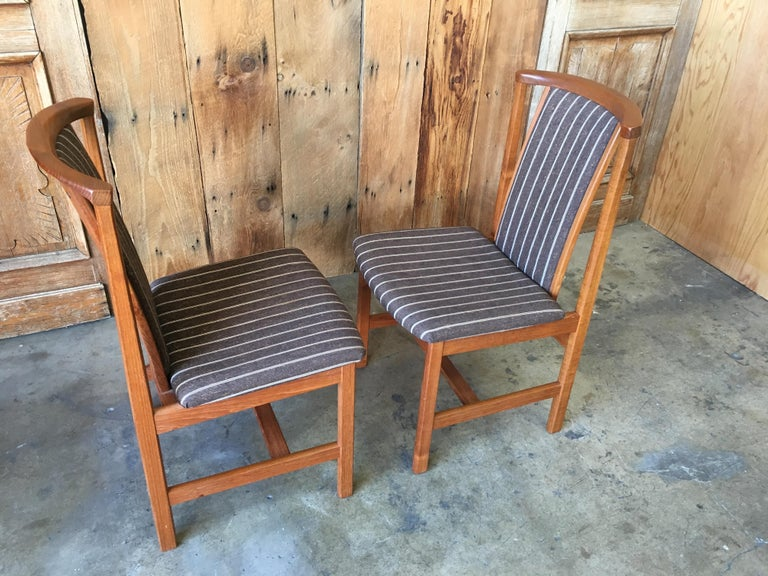 Mid Century Teak Dining Chairs Set of Eight For Sale 2
