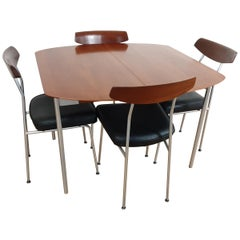 Midcentury Teak Dining Table and 4 Chairs by John and Sylvia Reid for Stag