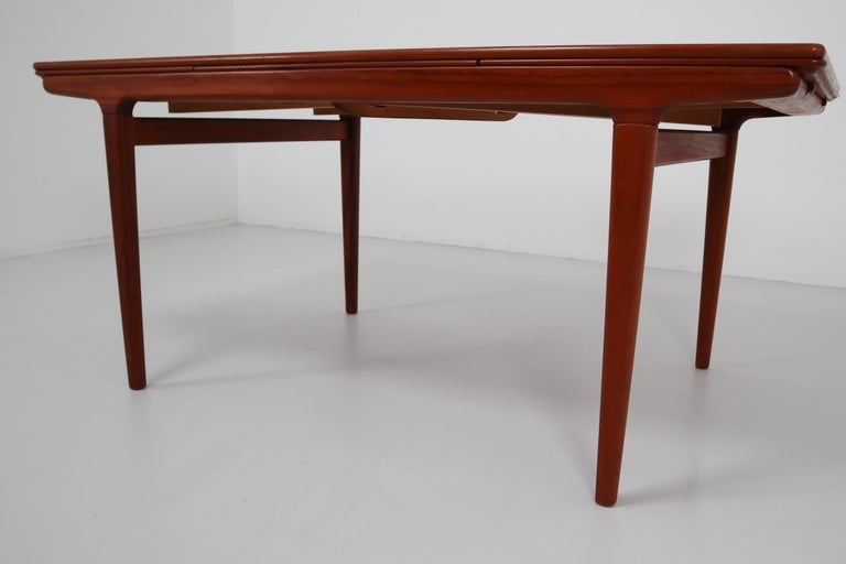 Mid-20th Century Midcentury Teak Dining Table with Extensions by Niels Møller, Denmark, 1950s For Sale