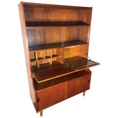 Midcentury Teak Display Cabinet Secretary and Bar by Ellman Furniture