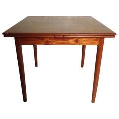 Midcentury Teak Draw Leaf Table