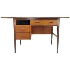 Midcentury Teak Drop-Leaf Writing Desk Danish, 1960s
