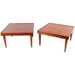 Midcentury Teak End Tables from Norway