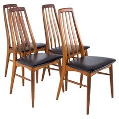 Niels Koefoeds Hornslet Mid Century Eva Teak Dining Chairs - Set of 4