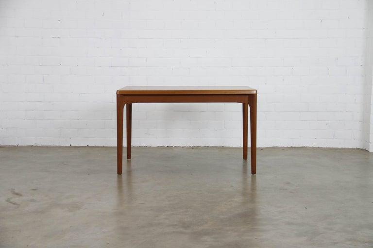 Scandinavian Modern Midcentury Teak Extendable Dining Table by Henning Kjærnulf, Denmark, 1960s For Sale