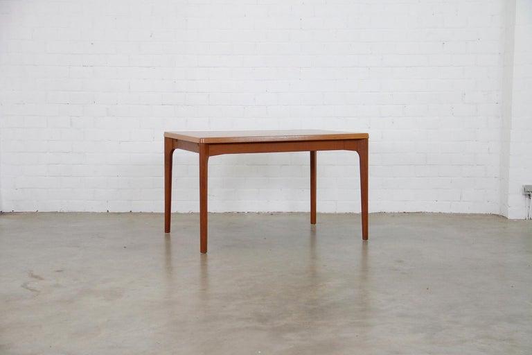 Danish Midcentury Teak Extendable Dining Table by Henning Kjærnulf, Denmark, 1960s For Sale