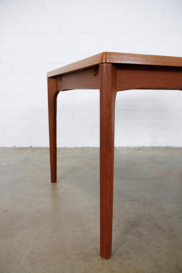 Mid-20th Century Midcentury Teak Extendable Dining Table by Henning Kjærnulf, Denmark, 1960s For Sale