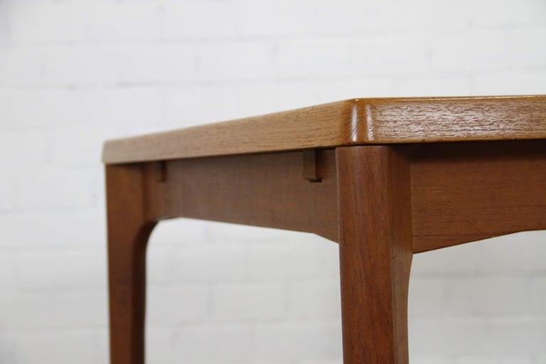 Wood Midcentury Teak Extendable Dining Table by Henning Kjærnulf, Denmark, 1960s For Sale