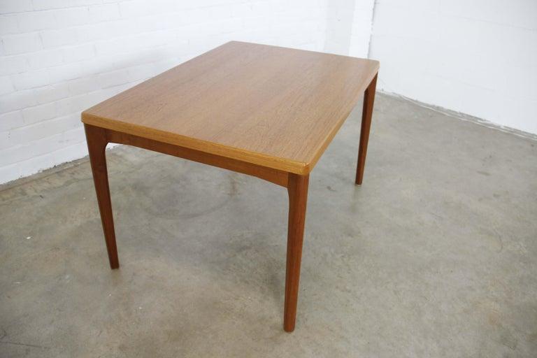 Midcentury Teak Extendable Dining Table by Henning Kjærnulf, Denmark, 1960s For Sale 1