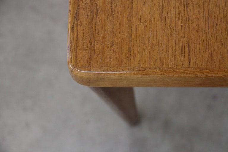 Midcentury Teak Extendable Dining Table by Henning Kjærnulf, Denmark, 1960s For Sale 2