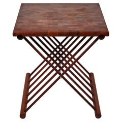Mid Century Teak Folding 'X' Table