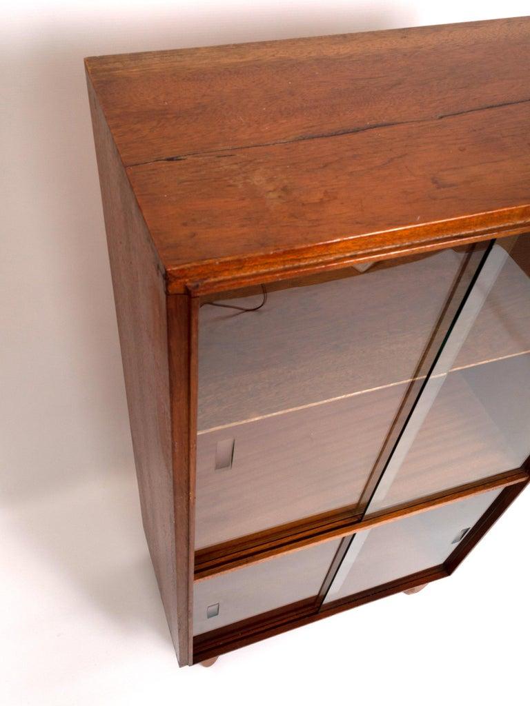 Glass Midcentury Teak Glazed Cabinet by Robert Heritage, England, circa 1960 For Sale